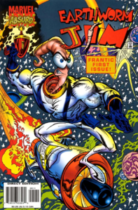 Earthworm Jim - Earthworm Jim as he appears in the Comic Heck Hath No Fury, Part 1