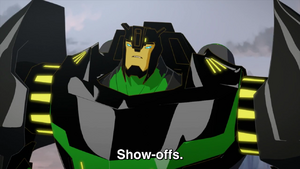 Grimlock (Show-offs.)