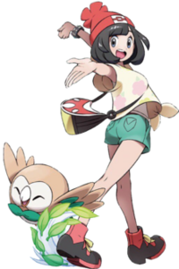 225px-Selene and Rowlet Artwork