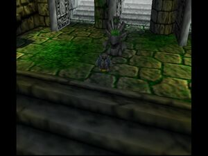 Banjo-Tooie 64 Banjo The Stony in mayan kickball stadium