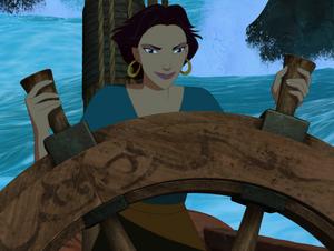 Marina steering the Chimera