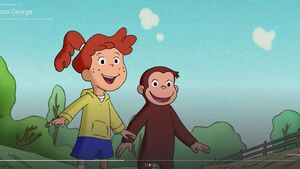 PBS Kids's Curious George Allie and George saw The Man With the Yellow Hat