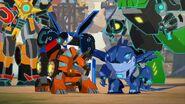 Sawtooth and Tricerashot in the Scrapyard