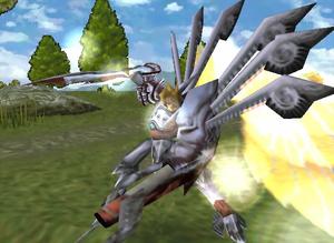 The Legend of Dragoon - Dart Feld in Divine Dragoon Form