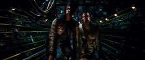 Rey and Finn Crawling