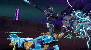 BJTO-Kopaka saves Ekimu from a Storm Beast