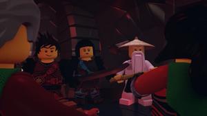 Kai, Nya and Wu Facing Acronix and Krux