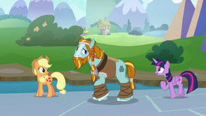 Twilight tries to cheer up Rockhoof S8E21