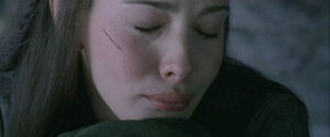Arwen crying