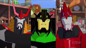 Grimlock, Drift and Sideswipe (Combine and Conquer)