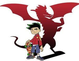 Jake's human and dragon forms
