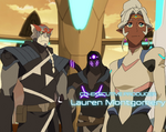 Allura, Kolivan and Antok in Olkarion