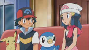 Ash, Dawn, Pikachu and Piplup (The Treasure is All Mine!)