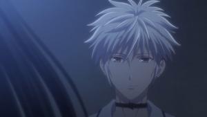 Haru look at Rin