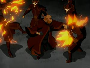 Iroh VS Firebending Soldiers