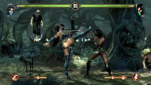 Kitana kicks Jade