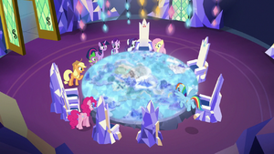 Mane Six around the expanded Cutie Map