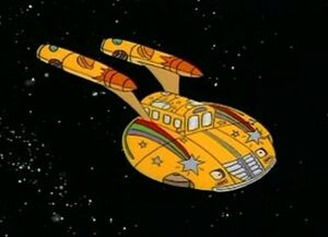 The Magic School Bus as the Enterprise from Star Trek