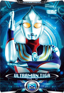 Ultraman X Ultraman Tiga Card