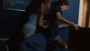 Christina's House - Christina pushing Bobby out of bed to show him the danger note