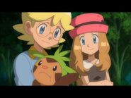 Clemont, Serena, and Chespin