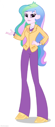 Equestria Girls Principal Celestia artwork