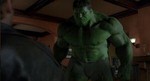 Hulk going to kick talbot