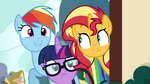 Sci-Twi and Rainbow peeking with Sunset EGSB