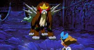 Entei reveals himself to Molly