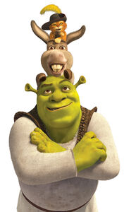 Puss Donkey and Shrek