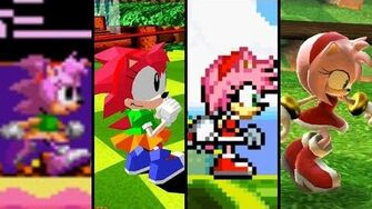 Evolution of Amy Rose (1993 - 2018)