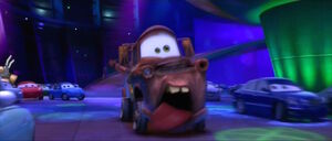 Mater screaming after tasting wasabi
