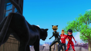 Animan - Cat Noir, Kim and Ladybug