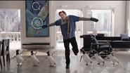 Popper penguins dancing
