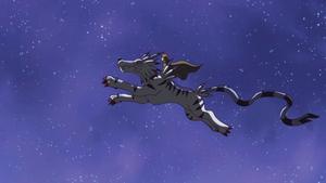 Yamato and Garurumon jump