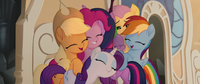 Mane Six and Spike in a group hug MLPTM