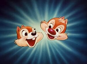 Chip and Dale face card