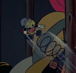 Jiminy Cricket's funny yell