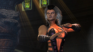 Sindel prepares to fight Nightwolf again