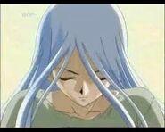 Kisara releasing her dragon spirit