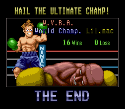 Super Punch-Out!! ending the end screen