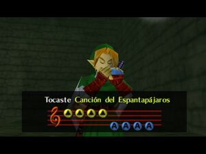 Legend of Zelda, The - Ocarina of Time 64 link playing the ocarine of time
