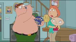 Peter is drinking Red Bull