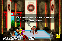 Dixie Kiddy and Cranky in Donkey Kong Country 3 GBA