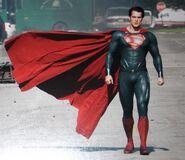 Superman stance