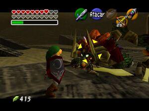 Zelda OOT 64 Link VS Ganon