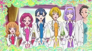 The girls as doctors
