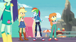 Rainbow Dash quickly greets Applejack EGROF