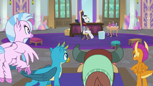 Young Six looking at disgraced Neighsay S8E26