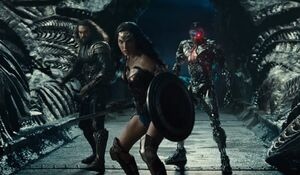 Aquaman with Wonder Woman and Cyborg